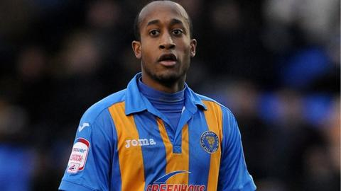 West Bromwich Albion defender Cameron Gayle first joined Shrewsbury Town on loan in November 2012
