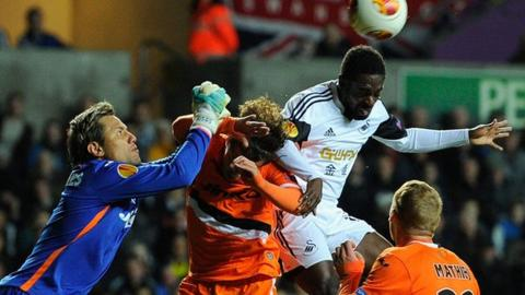 Swansea v Valencia action
