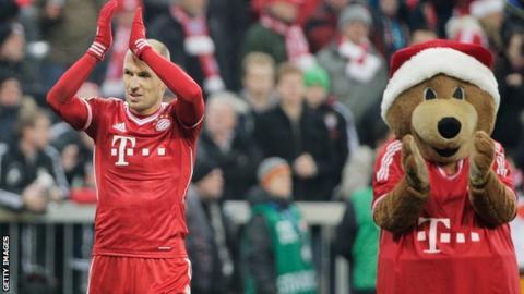 Arjen Robben scores for Bayern