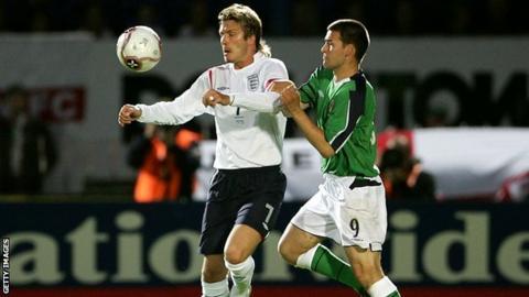 David Beckham and David Healy
