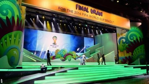 The draw for the final takes place in Costa do Sauipe, Brazil, on Friday