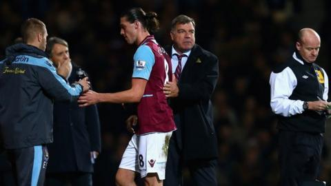 Andy Carroll and Sam Allardyce
