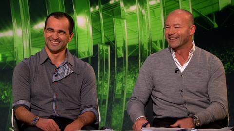 Roberto Martinez and Alan Shearer