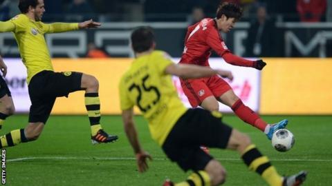 Son Heung-Min scores for Bayer Leverkusen