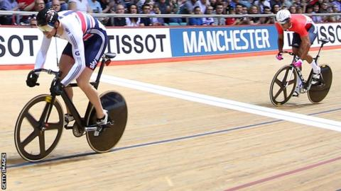 Matt Crampon clinches keirin gold in Mexico