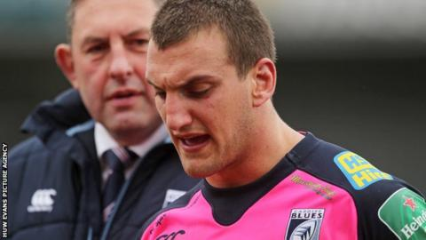 Cardiff Blues director of rugby Phil Davies and Sam Warburton