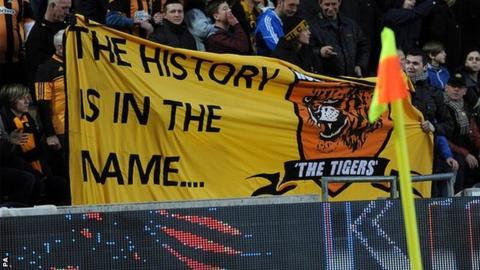 Hull City fans protest against name change