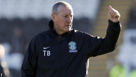 Hibernian boss Terry Butcher