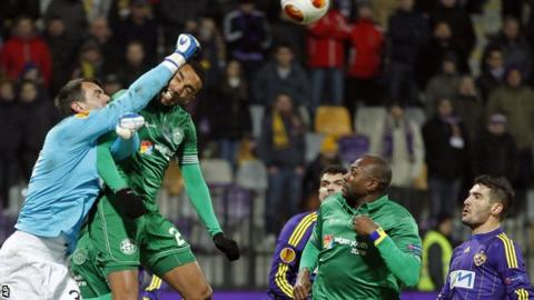 Wigan in Europa League action against Maribor