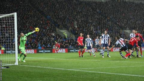 Peter Whittingham's header beats West Brom's Welsh keeper Boaz Myhill to secured a vital win for Malky Mackay's side.