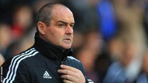 Steve Clarke watches West Brom lose to Cardiff
