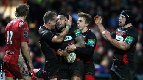 Edinburgh were 16-10 winners at Kingsholm