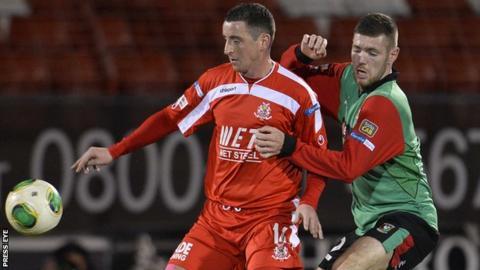 football other northern ireland premiership dungannon swifts portadown winner
