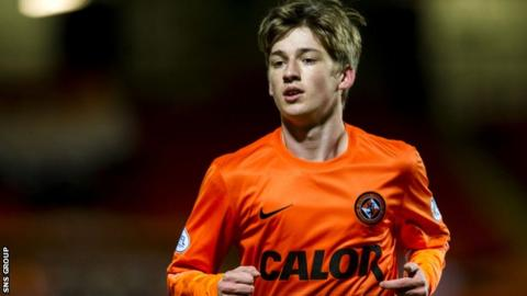 Dundee United midfielder Ryan Gaud