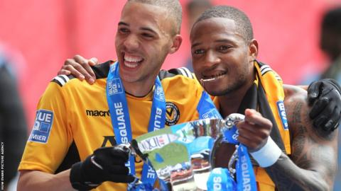 Goals from Christian Jolley and Aaron O'Connor saw Newport County beat Wrexham 2-0 in the Conference Promotion Final to secure a return to the Football League.