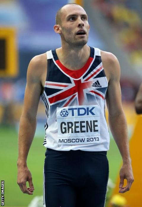Defending world 400m hurdle champion Dai Greene fails to qualify for the final at the World Athletics Championships, after coming fifth in his semi-final.