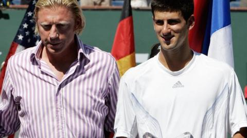 Boris Becker and Novak Djokovic