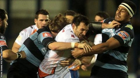 Joe Bearman leads Ospreys' charge against Cardiff Blues in the Pro12 at the Arms Park