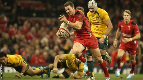 Ben North in action for the British and Irish Lions against Australia