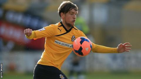 Cambridge midfielder Luke Berry