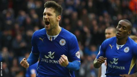 Leicester City striker David Nugent scores the only goal against Reading