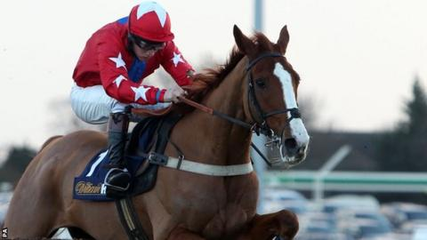 Sire De Grugy wins Desert Orchid Chase
