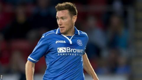 St Johnstone midfielder Paddy Cregg