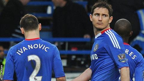 Chelsea's Frank Lampard and Branislav Ivanovic