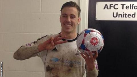 AFC Telford hat-trick hero Adam Farrell