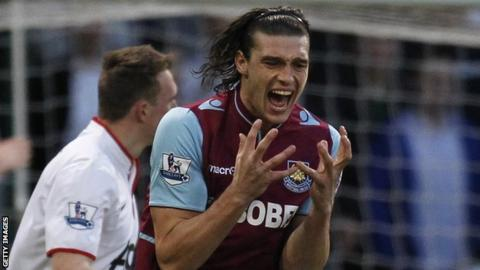 West Ham United striker Andy Carroll