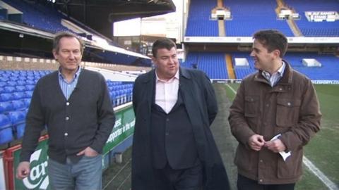 Ian Milne and Jonathan Symonds with Tom Williams