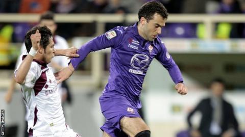 Fiorentina's Giuseppe Rossi