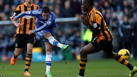 Eden Hazard scores for Chelsea