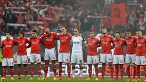 Benfica minutes silence for Eusebio