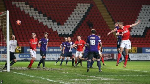 Michael Morrison scores Charlton's first goal