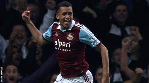 West Ham midfielder Ravel Morrison