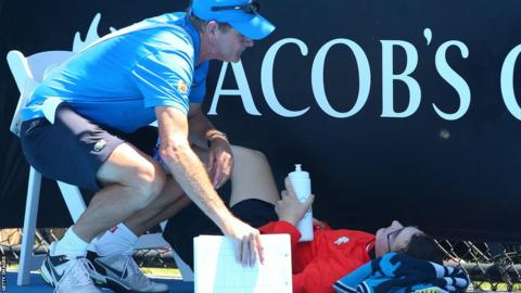 A ballboy faints in the heat as Melbourne heads towards 43C