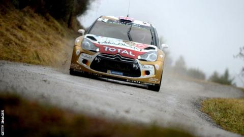 Kris Meeke in action in the Monte Carlo Rally on Thursday