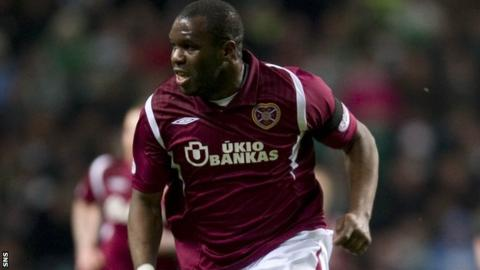 Christian Nade in action for Hearts