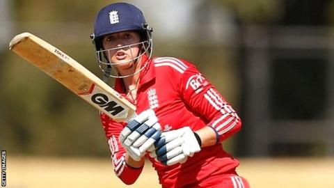 England's Sarah Taylor during the warm-up match in Melbourne