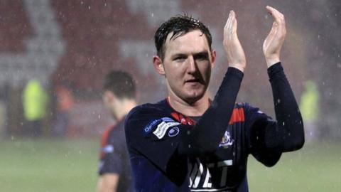 Portadown striker Gary Twigg