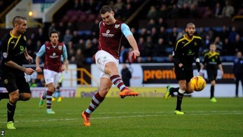 Burnley's Sam Vokes gave his side the lead against Sheffield Wednesday