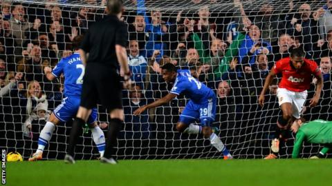 Samuel Eto'o scores a hat-trick against Manchester United