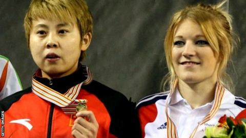 Wang Meng and Elise Christie