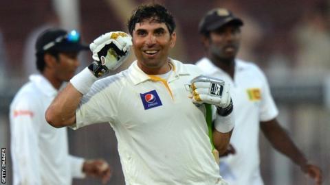 Pakistan captain Misbah-ul-Haq (centre) celebrates his side's win