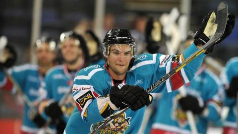 Darryl Lloyd scored the first Giants goal in the 3-1 win over Sheffield