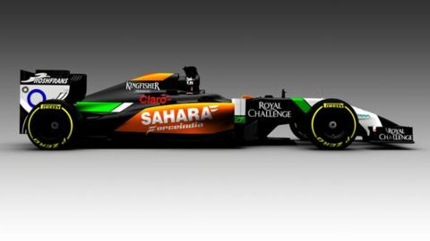 Force India's 2014 car VJM07