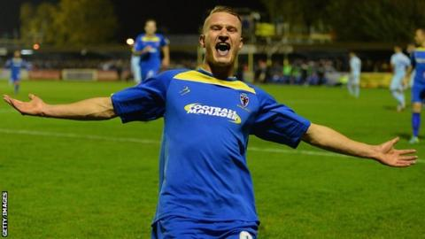 Michael Smith scores for AFC Wimbledon