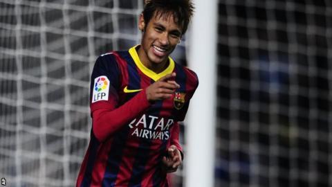 Neymar of Barcelona