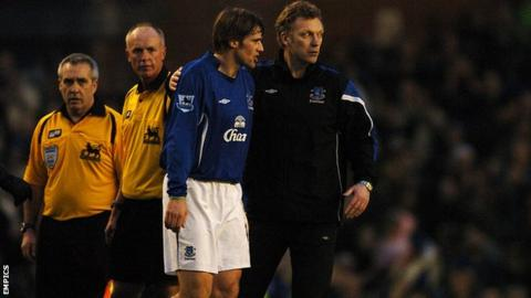 Kevin Kilbane and David Moyes